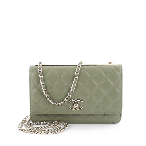 72318c88cef077 Buy Chanel Trendy CC Wallet on Chain Quilted Lambskin Green 2348001 – Rebag