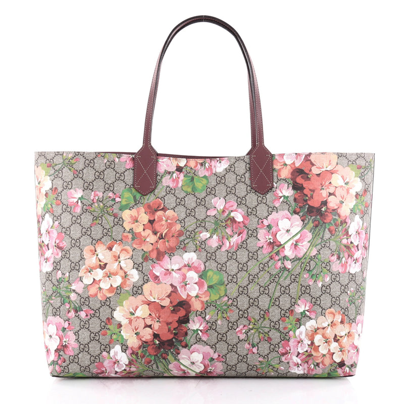 4f143b99eb7 Buy Gucci Reversible Tote Blooms GG Print Leather Large Pink 2348002 ...
