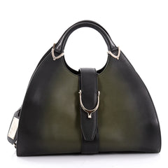 Gucci Stirrup Top Handle Bag 1921 Leather Large Green 2348801