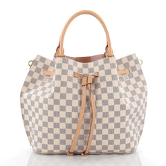 Louis Vuitton Girolata Handbag Damier White