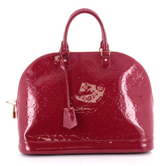 Louis Vuitton Alma Handbag Monogram Vernis GM Red 2351702