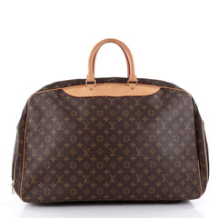 Louis Vuitton Alize Bag Monogram Canvas 3 Poches Brown