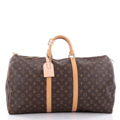 Louis Vuitton Keepall Bag Monogram Canvas 55 Brown