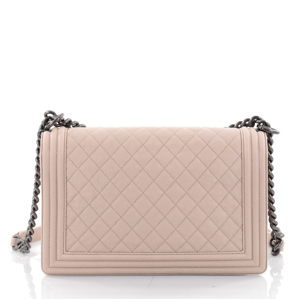 25e69be297a7 Buy Chanel Boy Flap Bag Quilted Caviar New Medium Neutral 2358101 ...