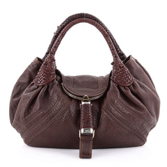 Fendi Spy Bag Leather Brown 2359805