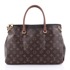 Louis Vuitton Pallas Tote Monogram Canvas Brown 2361901