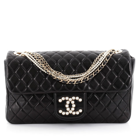 a9a06e96cd33ba Buy Chanel Westminster Pearl Chain Flap Bag Quilted Lambskin 2364001 – Rebag