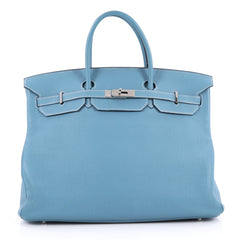 Hermes Birkin Handbag Blue Togo with Palladium Hardware 2365006