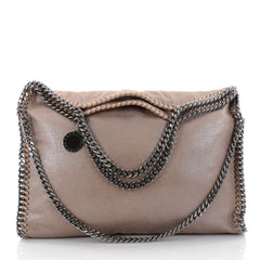 Stella McCartney Falabella Fold Over Bag Shaggy Deer Brown 2366401