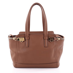 Salvatore Ferragamo Verve Tote Leather Medium Brown 2371801