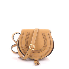 Chloe Marcie Crossbody Bag Leather Small Brown 2371901