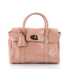 Mulberry Bayswater Convertible Satchel Patent Small Pink 2374601