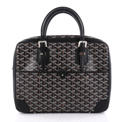 Goyard Ambassade Briefcase Coated Canvas PM Black