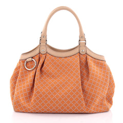 Gucci Sukey Tote Diamante Canvas Medium Orange 2375504