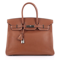 Hermes Birkin Handbag Brown Epsom with Palladium 2376002