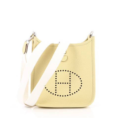 b83f5b1b2b5 Buy Hermes Evelyne Crossbody Gen III Clemence TPM Yellow 2379205 – Rebag