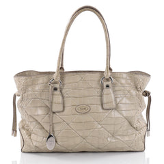 Tod's Tote Alligator Large Green 2380301