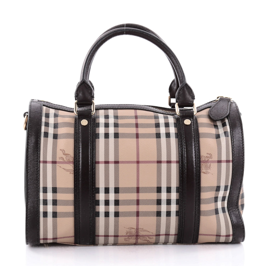 7763e810c9a5 Buy Burberry Alchester Bowling Bag Haymarket Coated Canvas 2384902 ...