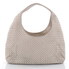 Bottega Veneta Ball Hobo Intrecciato Nappa Gray 2385601