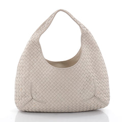 Bottega Veneta Ball Hobo Intrecciato Nappa Gray 2385703