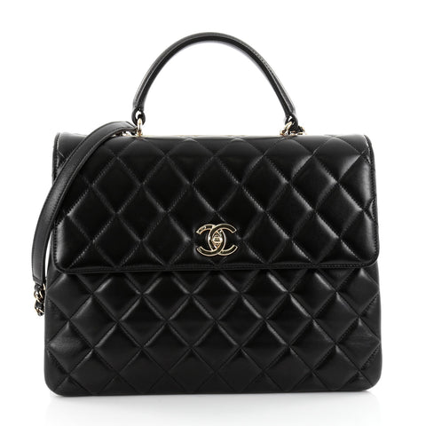 b08a0c8080088b Buy Chanel Trendy CC Top Handle Bag Quilted Lambskin Large 2385803 – Rebag