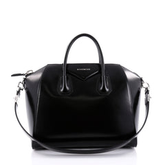 Givenchy Antigona Bag Glazed Leather Medium Black 2385807