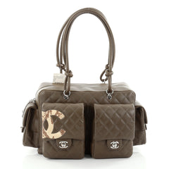 Chanel Cambon Multipocket Reporter Handbag Quilted 2388501