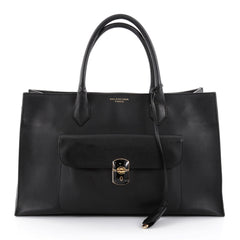 Balenciaga Padlock All Time Work Tote Leather Black 2393001