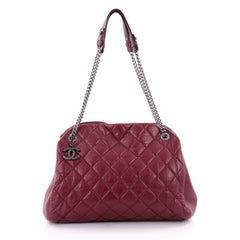 Chanel Just Mademoiselle Handbag Quilted Aged Calfskin 2393902