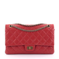 Chanel Reissue 2.55 Handbag Quilted Lambskin 226 Red 2395003