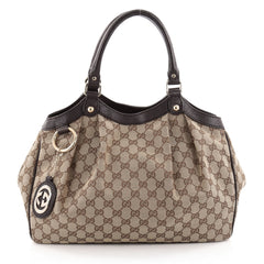 Gucci Sukey Tote GG Canvas Medium Brown 2397103