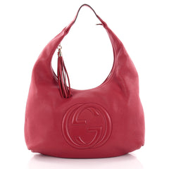 Gucci Soho Hobo Leather Large Red 2397704