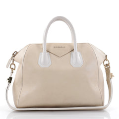 Givenchy Bicolor Antigona Bag Leather Medium Neutral 2397801