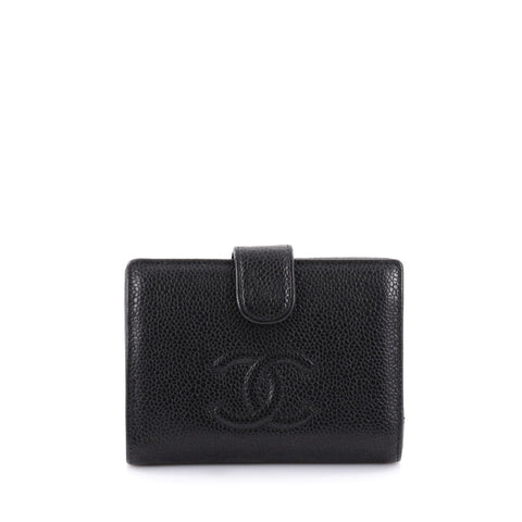 68cfc589b2f Buy Chanel Timeless CC Wallet Caviar Compact Black 2398002 – Rebag