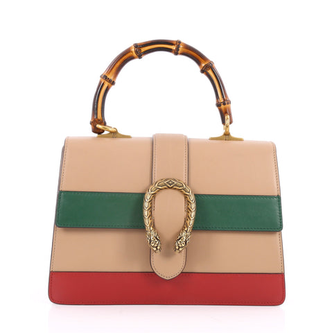 76860f6a44f Buy Gucci Dionysus Bamboo Top Handle Bag Colorblock Leather 2406601 – Rebag