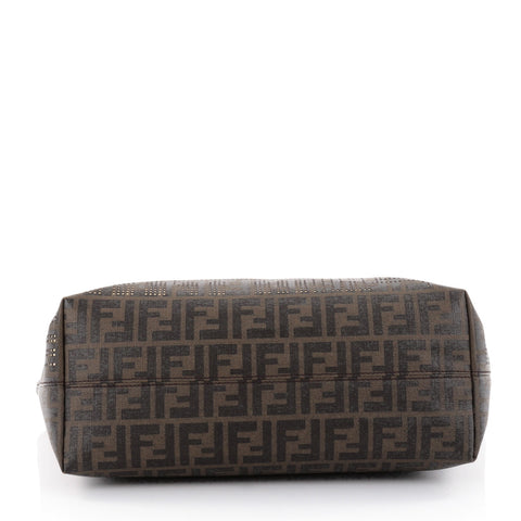 a60554ee03f2 coupon code for buy fendi roll tote perforated zucca canvas large brown  2408701 rebag 495ee 0b9cd