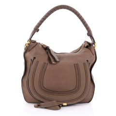 Chloe Marcie Hobo Leather Medium Brown 2409501