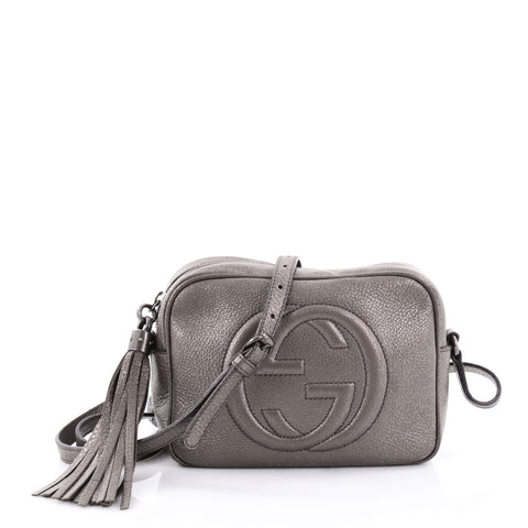 ae92149f6c7f88 Buy Gucci Soho Disco Crossbody Bag Leather Small Gray 2410101 – Rebag