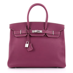 Hermes Candy Birkin Handbag Epsom 35 Purple 2421302