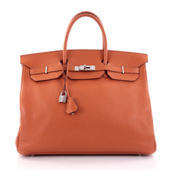 Hermes Birkin Handbag Orange Clemence with Palladium 2431602