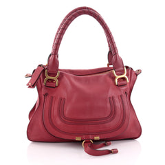 Chloe Marcie Satchel Leather Medium Red 2434502