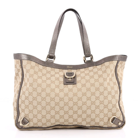 a1429665187 Buy Gucci Abbey D Ring Tote GG Canvas Large Neutral 2434801 – Rebag