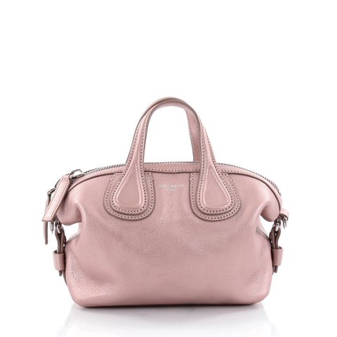 6e0ca462837b Buy Givenchy Nightingale Satchel Waxed Leather Mini Pink 2438301 – Rebag