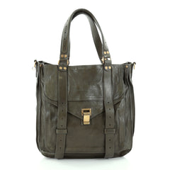 Proenza Schouler PS1 Convertible Tote Leather Green 2442204