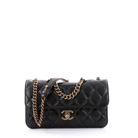 5d6dce28d1a4 Buy Chanel Perfect Edge Flap Bag Quilted Calfskin Small 2446702 – Rebag
