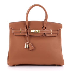 Hermes Birkin Handbag Brown Togo with Gold Hardware 35 2447701