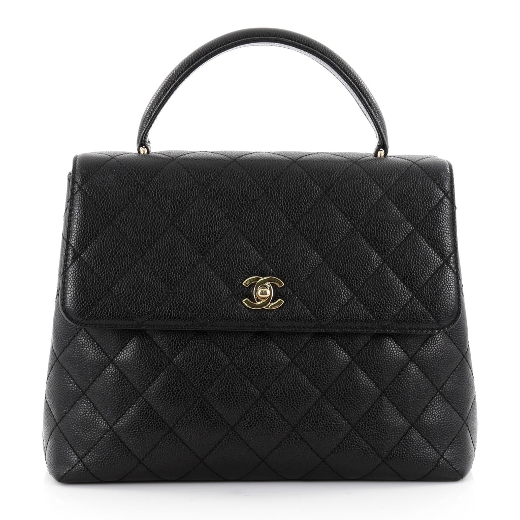 Buy Chanel Vintage Classic Top Handle Flap Bag Quilted ...