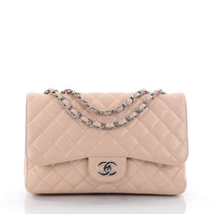 Chanel Classic Single Flap Bag Quilted Caviar Jumbo 2451501