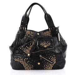 Alexander McQueen Faithful Tote Studded Leather Black 2452806