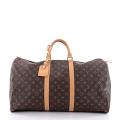 Louis Vuitton Keepall Bag Monogram Canvas 60 Brown